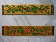 2 Holzbretter Blumen