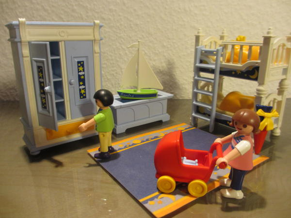 2 kinderzimmersets playmobil kinderzimmer mit stockbett for Kinderzimmer playmobil