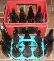 22 Glasflaschen Apfelsaftflaschen