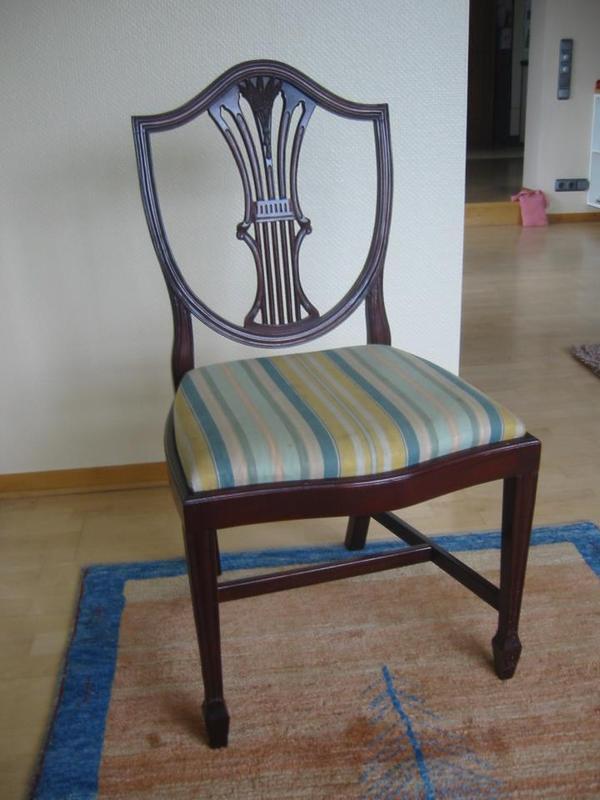 6 st hle antik art 39 hepplewhite 39 39 oval dining table 39 in n rnberg sonstige m bel. Black Bedroom Furniture Sets. Home Design Ideas