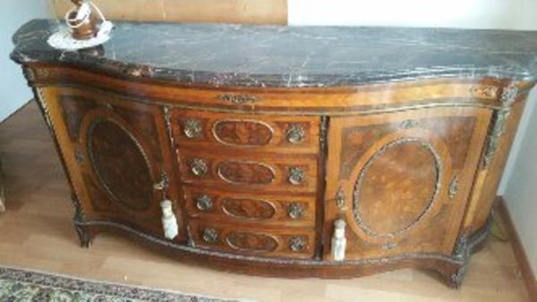 Antik antikes neu und gebraucht kaufen bei for Holztisch mit marmorplatte