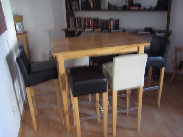 bartisch holz massiv bartisch 80x80 kernbuche massiv stehtisch holz buche ge lt bartisch. Black Bedroom Furniture Sets. Home Design Ideas