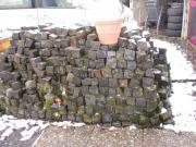 Basalt Kopfsteinpflaster, über