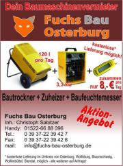 Bautrockner 120Liter am