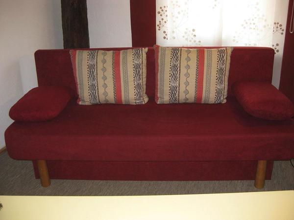 Bettsofa dunkelrot in adlkofen polster sessel couch for Sessel dunkelrot