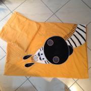 Bettwäsche gelb Zebra