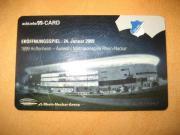 Bezahlkarte vom Eröffnungsspiel