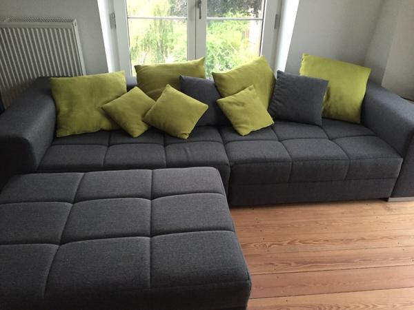 big sofa grau gr n hocker in hamburg polster sessel. Black Bedroom Furniture Sets. Home Design Ideas