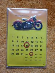 Blech Schild Motorrad