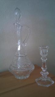 Bleikristall- Karaffe + Kerzenständer