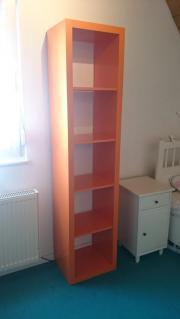 Bücherregal orange