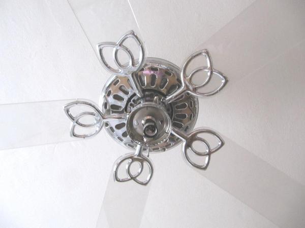 Chrom acryl designer deckenventilator 5 acryl fl gel ventilator mit licht in m nchen - Designer dekoartikel ...