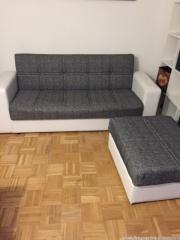 Couch, Bett, nachtkästchen,