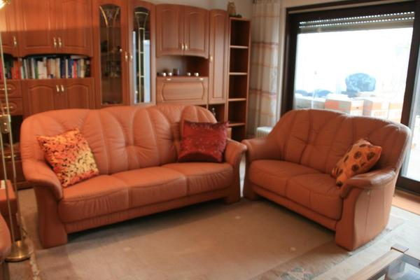 couchgarnitur sofa sitzgarnitur echtes leder markenprodukt in bad honnef polster sessel. Black Bedroom Furniture Sets. Home Design Ideas