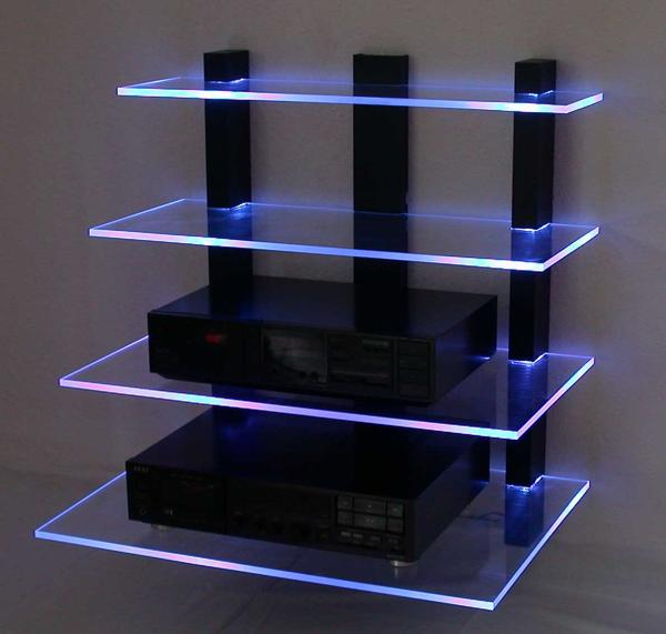 design wand hifi rack led beleuchtet in wermelskirchen. Black Bedroom Furniture Sets. Home Design Ideas