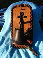 echte Schiffsglocke (Holz,