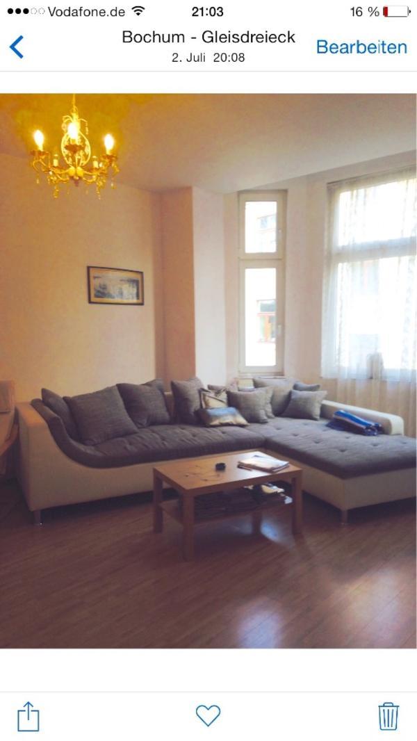 ecksofa wei leder grau in bochum polster sessel couch kaufen und verkaufen ber private. Black Bedroom Furniture Sets. Home Design Ideas