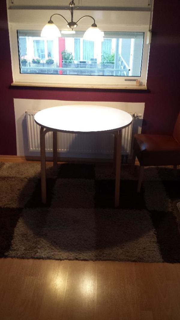 esstisch rund ikea nussbaum esstisch rund mit tischbeine edelstahl rund inklusive leder beige. Black Bedroom Furniture Sets. Home Design Ideas
