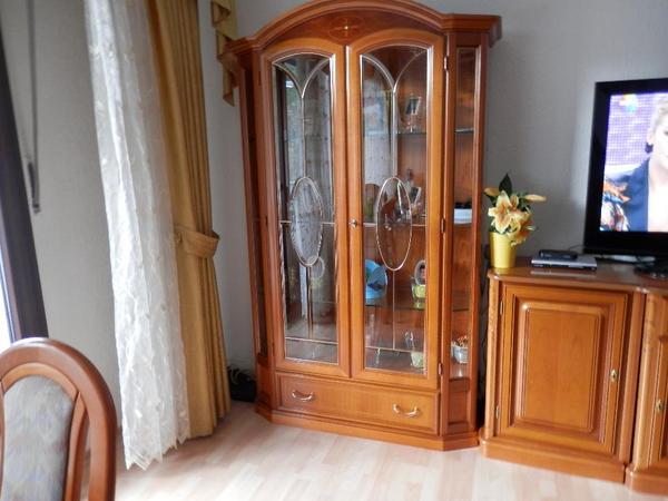 Esstisch vitrine komplettes wohn und esszimmer in kirschbaum in frankfurt wohnzimmerschr nke - Komplettes esszimmer ...