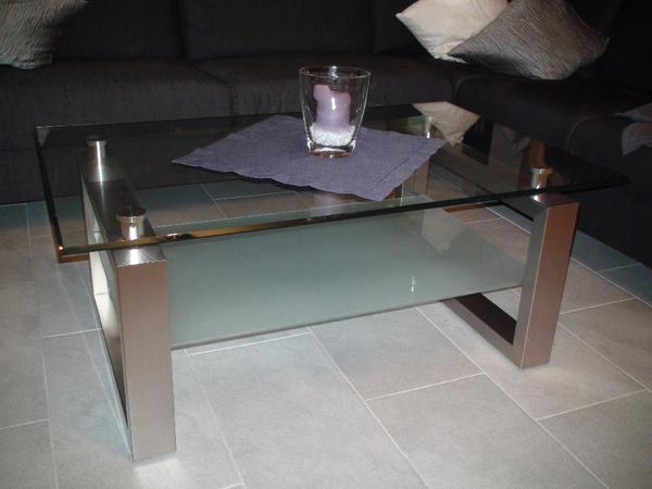 exklusiver wohnzimmertisch couchtisch aus glas in keltern couchtische kaufen und verkaufen. Black Bedroom Furniture Sets. Home Design Ideas
