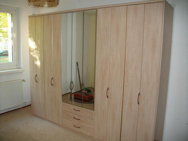 faltt ren kleiderschrank ahorn decor mittig 3 sch be. Black Bedroom Furniture Sets. Home Design Ideas
