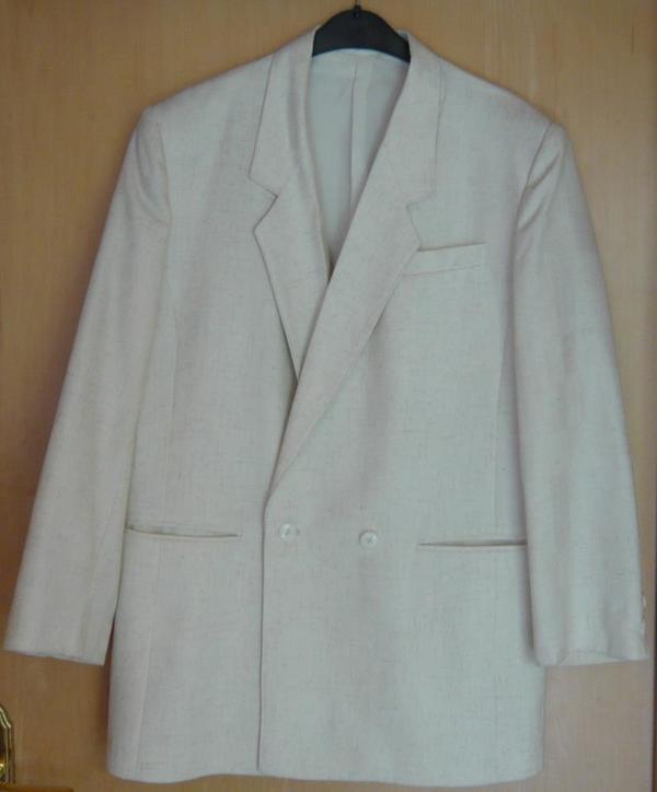 Festlich elegant damen blazer wei cremefarben gr 40 for Festliche blazer damen