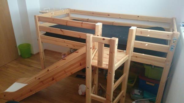 flexa hochbett bett kinder jugendzimmer. Black Bedroom Furniture Sets. Home Design Ideas