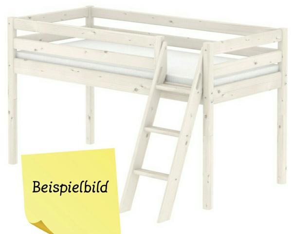 flexa hochbett halbhoch in rutesheim kinder. Black Bedroom Furniture Sets. Home Design Ideas