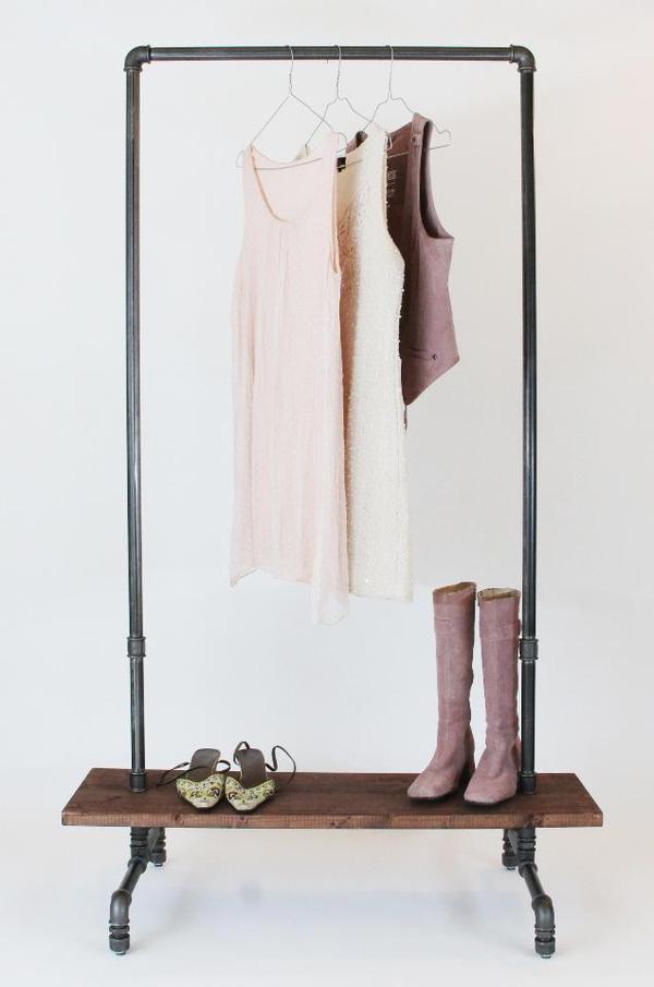 Garderobe industriedesign kleiderst nder kleiderstange for Garderobe quoka