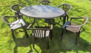Gartentisch + Stühle