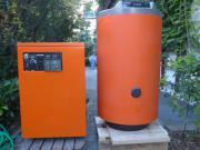 Gasheizkessel und Warmwasserboiler