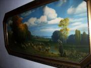 Gemälde, Kunstdruck hinter
