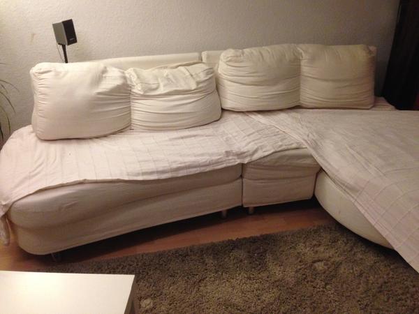 Gem tliche couch mit funktion ecke wohnlandschaft beige in for Wohnlandschaft quoka