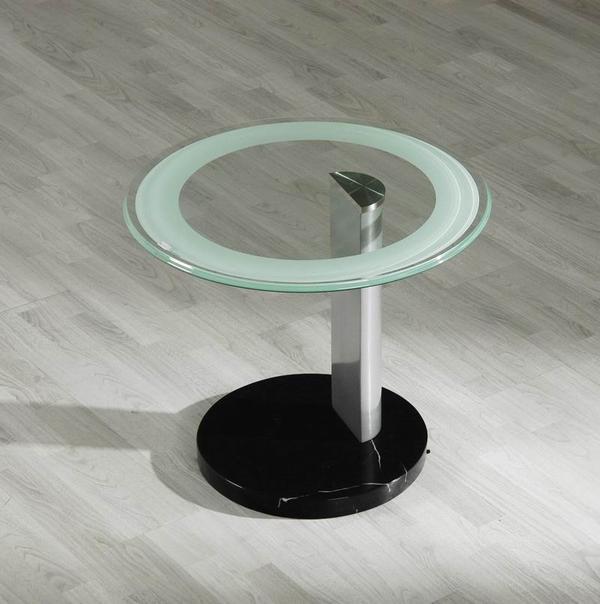 glas beistelltisch kleiner couchtisch schwarzer marmor