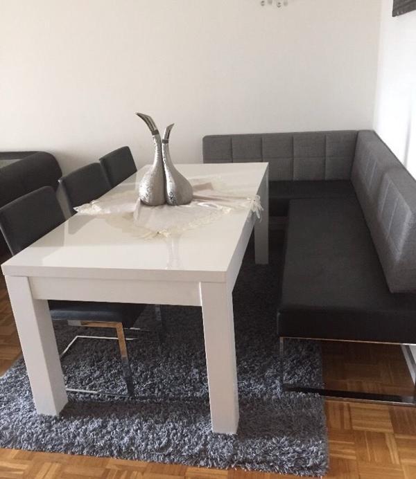 esstisch tisch wei hochglanz kaufen gebraucht oder neu. Black Bedroom Furniture Sets. Home Design Ideas