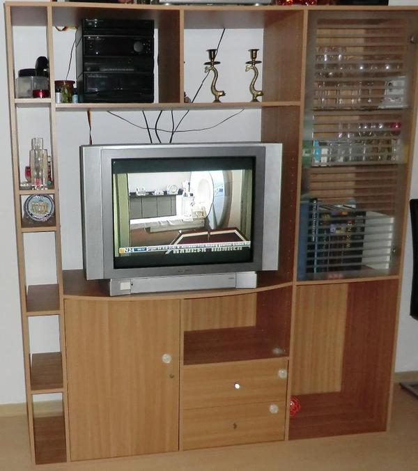 ***Gut Erhaltene Wohnwand + Panasonic TV*** In Germersheim