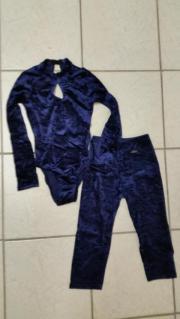 Gymnastikanzug Samt blau