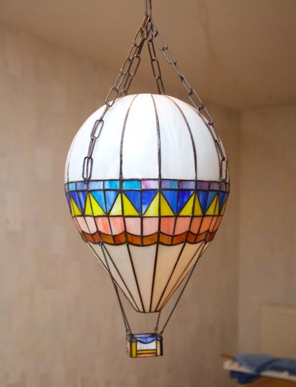 Heißluftballon Lampe Kinderzimmerlampe Wie Tiffany In