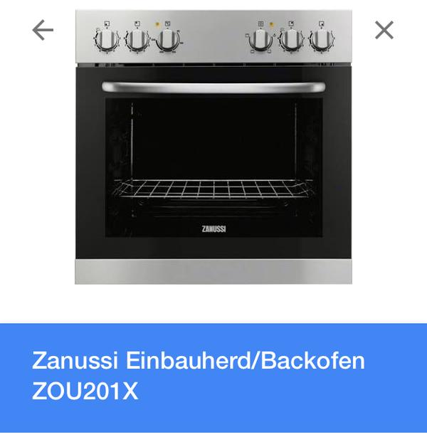 herd einbauherd zanussi backofen kochfeld in. Black Bedroom Furniture Sets. Home Design Ideas