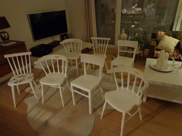 stuhl weiss shabby kaufen gebraucht und g nstig. Black Bedroom Furniture Sets. Home Design Ideas