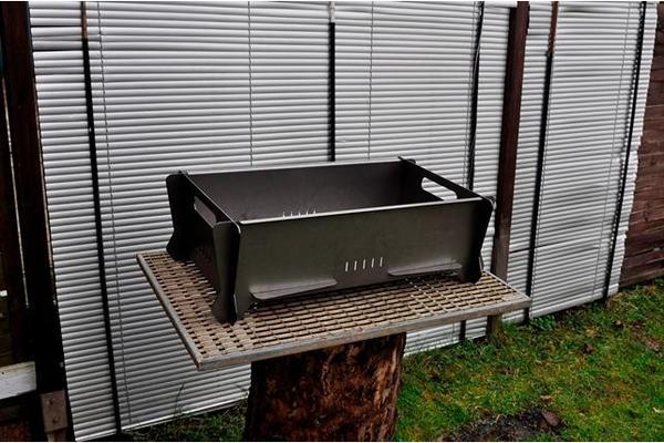 holzkohlengrill mangal schaschlik grill zerlegbar edelstahl v2a in kassel k chenherde grill. Black Bedroom Furniture Sets. Home Design Ideas