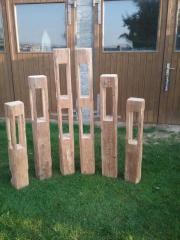 Holzlaternen aus alten