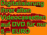 Ihre Videocassetten werden