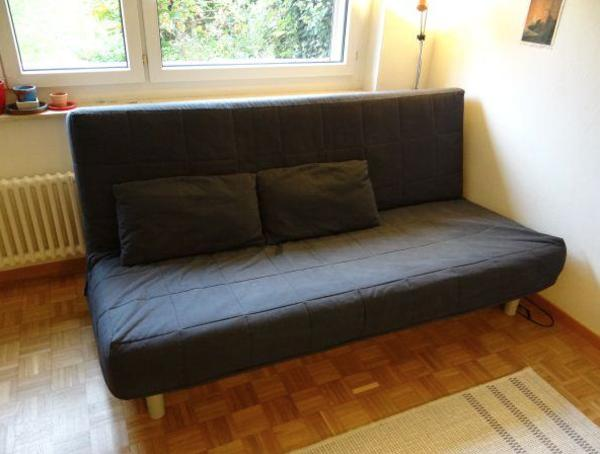 das schlafsofa ikea beddinge bezug grau waschbar mit bettkasten. Black Bedroom Furniture Sets. Home Design Ideas