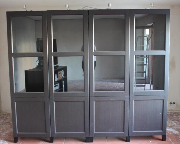 ikea besta schrank schr nke schwarzbraun sehr guter zustand. Black Bedroom Furniture Sets. Home Design Ideas