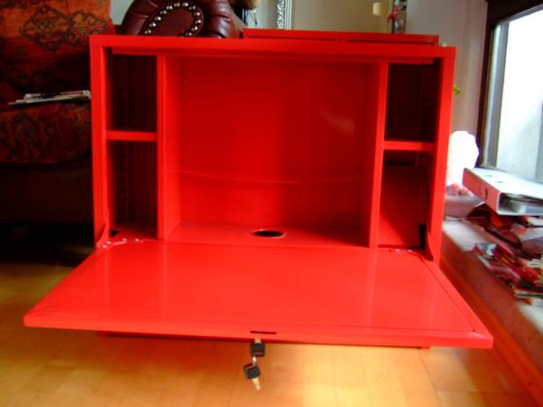 ikea laptop noteboock h nge schrank schreibtisch arbeitsplatz rot metall in n rnberg. Black Bedroom Furniture Sets. Home Design Ideas