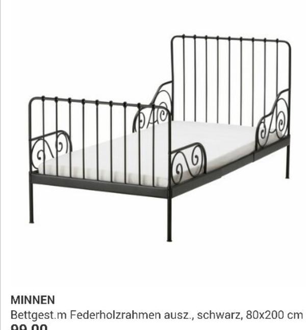 ikea minnen bett ausziehbar in becheln kinder. Black Bedroom Furniture Sets. Home Design Ideas