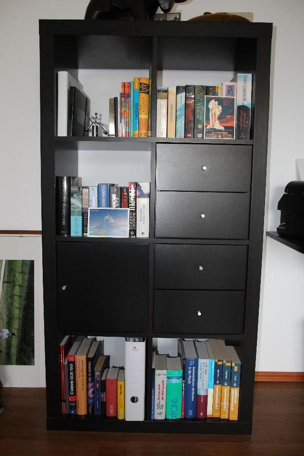 hallo wegen umzug verkaufe ich mein ikea regal kallax es gibt 4 schubf cher und ein t rfach. Black Bedroom Furniture Sets. Home Design Ideas