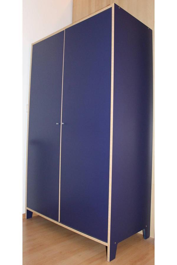 Ikea Robin Kleiderschrank Und Einzelbett Blau Pictures
