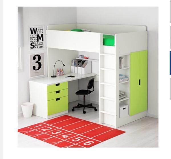 Ikea malm bett tisch 140 for Ikea stuva hochbett
